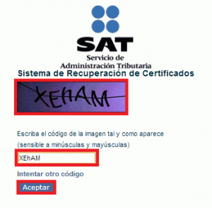 Cómo recuperar el certificado de sello - Página del SAT