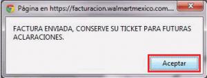 Factura electrónica Walmart - Factura generada