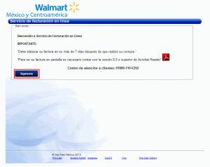 Factura electrónica Walmart - Inicio