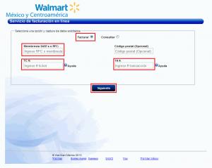 Factura electrónica Walmart - Datos básicos