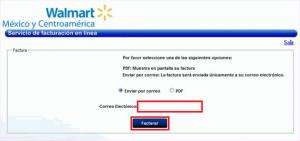 Factura electrónica Walmart - Descargar