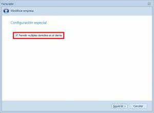 Sotfware para factura electrónica :: Parámetros