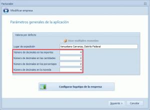 Decimales para el CFDI - Configuración