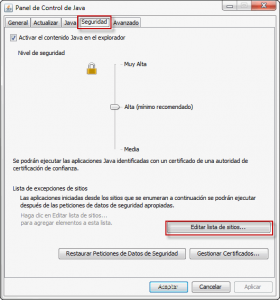 Java Seguridad