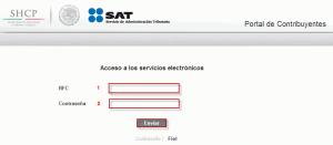 Portal de Contribuyentes - Acceso con contraseña