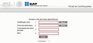 Portal de Contribuyentes - Acceso con FIEL