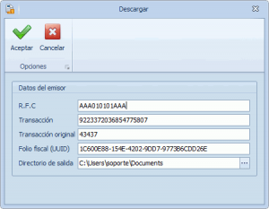 Estado de cuenta - Descargar un CFDI