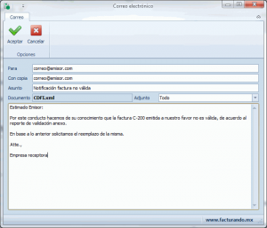 Validador CFDI - Enviar por correo