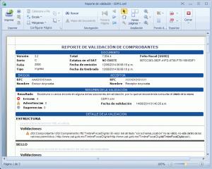 Validador CFDI - Reporte de validación