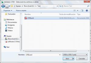 Validador CFDI - Seleccionar archivo