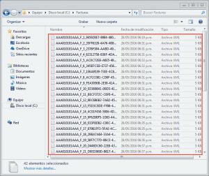 Seleccionar archivos XML